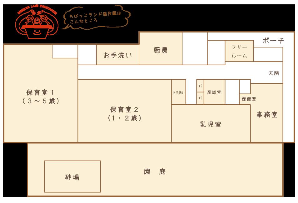 ちびっこランド福住園のマップ
